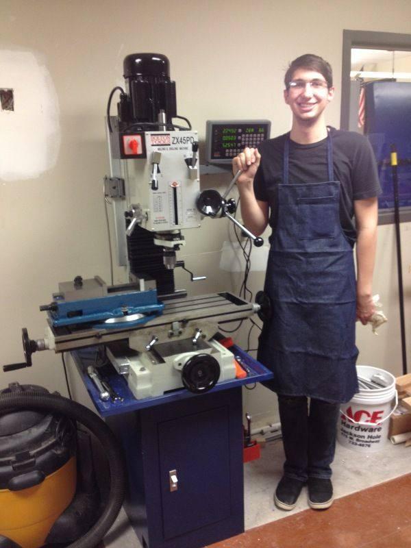 John at the drill press